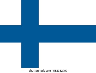 Finland flag, National Finland flag. Flat vector illustration.