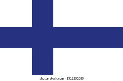 Finland flag. Simple vector Finland flag