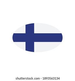 Finland flag. Simple vector Finland flag