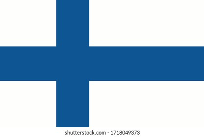 Finland flag vector graphic. Rectangle Finnish flag illustration. Finland country flag is a symbol of freedom, patriotism and independence.