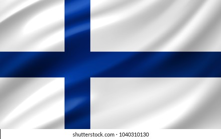Finland Flag in Vector Illustration