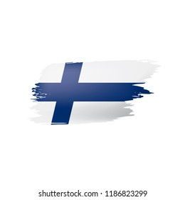 Finland flag, vector illustration on a white background.
