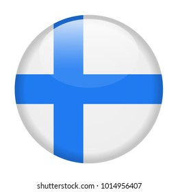 Finland Flag Vector Round Icon - Illustration