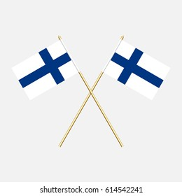 Finland; Finland  Flags. Vector illustration.