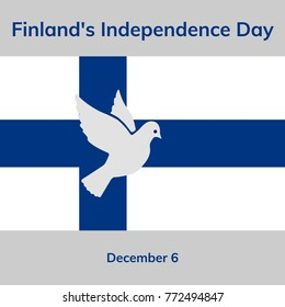 Finland Independence Day. National flag. Flat vector illustration