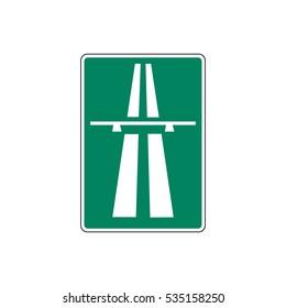 Finland Motorway Sign