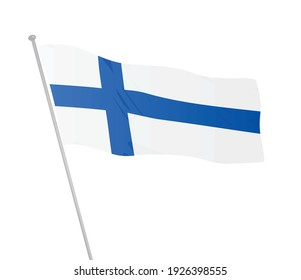Finland national flag. vector illustration