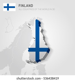 Finland and neighboring countries. Europe administrative map.