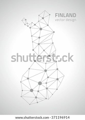 Finland Outline Map Stock Vector (Royalty Free) 371196914 ...