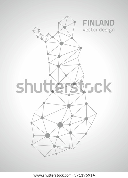 Finland Outline Map Stock Vector (Royalty Free) 371196914