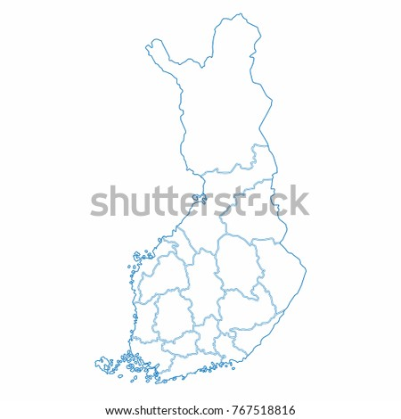 Finland World Map Country Outline Graphic Stock Vector Royalty Free