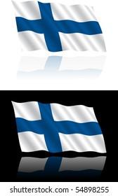 Finnish Flag Flowing
