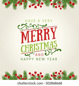 Fir Christmas Decoration with Greetings