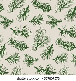 fir tree branch pattern