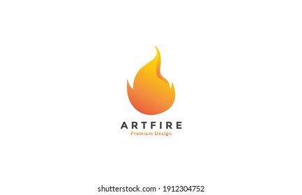 fire 3d abstract simple logo vector icon symbol design graphic illustration