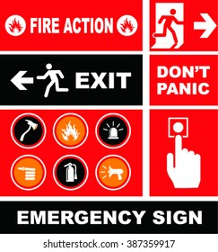 Fire Action  Icon on flat style