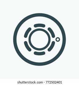 Fire alarm heat detector vector icon
