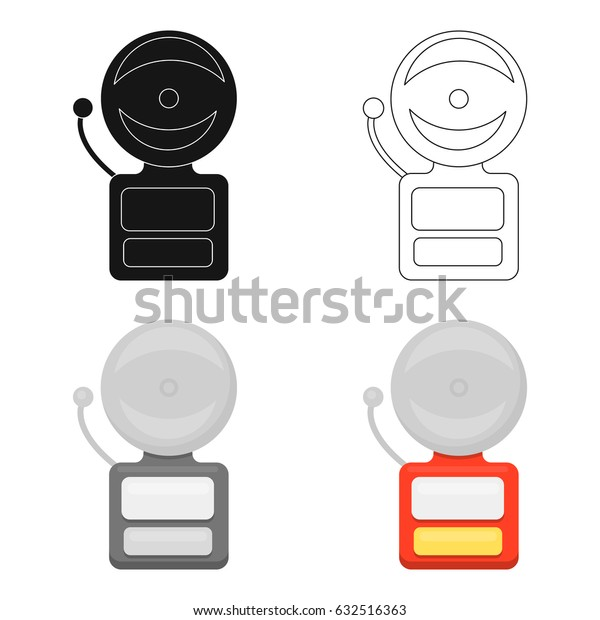 Fire alarm icon cartoon. Single silhouette fire equipment icon from the big fire Department cartoon - stock vecto - stock vecto - stock vecto - stock vector