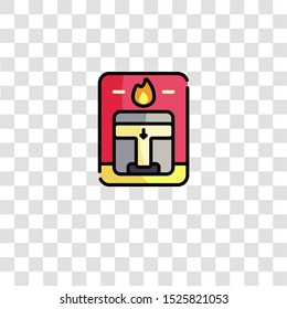 fire alarm icon sign and symbol. fire alarm color icon for website design and mobile app development. Simple Element from firefighter collection for mobile concept and web apps icon.