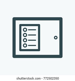 Fire alarm and security systems control panel vector icon