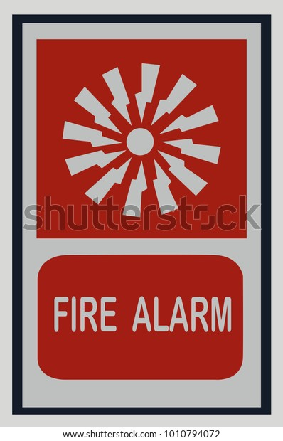 Fire Alarm Signs Symbols Fire Protection Stock Vector