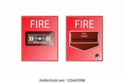 Fire alarm signs system, fire protection for building or industrial.