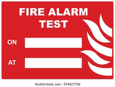 Fire alarm test.