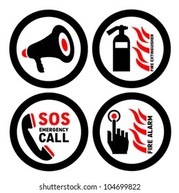 fire alarms vector signs