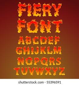 Fire alphabet - find more fonts in my portfolio