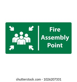 fire assembly point, vector icon