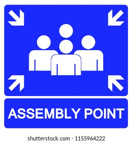 Fire Assembly Point Vector Signage