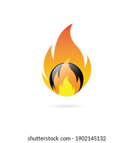 fire ball design vector illustration. isolated on white background.