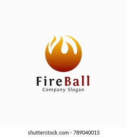 Fire Ball - Stylish hot fire logo