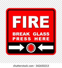 fire, break glass, vector