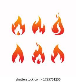 Fire Burnt aset vector free editable