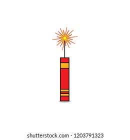 fire cracker firework for festival vector design.
