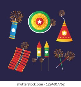 Fire Crackers Vector illustration
