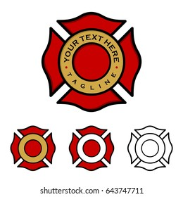 Fire Department Emblem Illustration Design. Vector EPS 10.