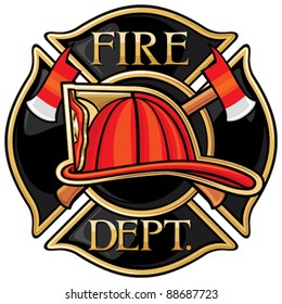 Fire Department Or Firefighters Symbol Images Stock Photos