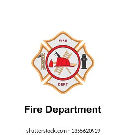 Fire Department icon. Element of color fire department sign icon. Premium quality graphic design icon. Signs and symbols collection icon for websites