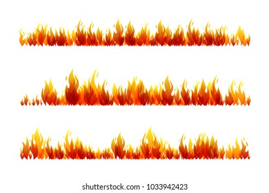 Fire. Design collection. Horizontal dividers set.