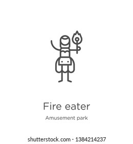 fire eater icon. Element of amusement park collection for mobile concept and web apps icon. Outline, thin line fire eater icon for website design and mobile, app development