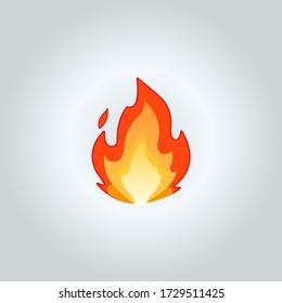 Fire emoji icon. Lit symbol modern, simple, vector, icon for website design, mobile app, ui. Vector Illustration