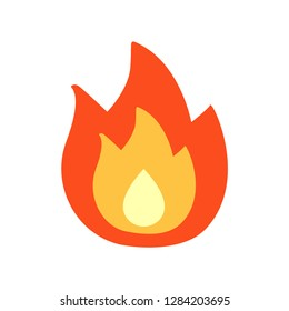Fire emoji vector