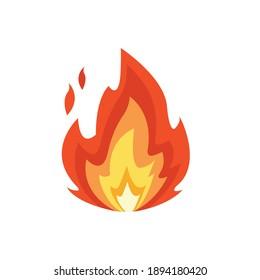 Fire emoji vector symbol sign flat design lit