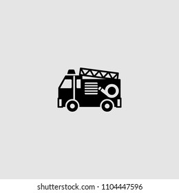 Fire Engine icon . Vector illustration