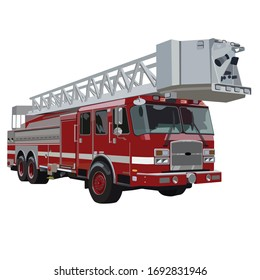 Fire Engine Truck with Ladder