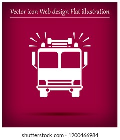 Fire engine vector icon