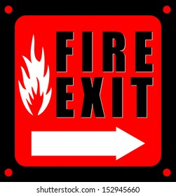 Fire Exit, icon vector