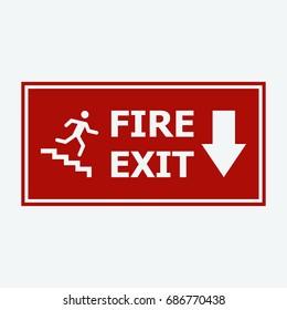 fire exit icon vector